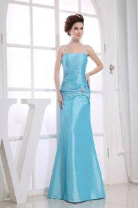 Classic Aqua Blue Mother of the Bride Dress for Wedding Reception
