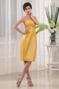 Simple Yellow Column Mother of the Bride Dress for Wedding Reception