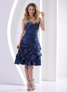 Nice Navy Blue Sweetheart Knee-length Dresses For Bride Mother