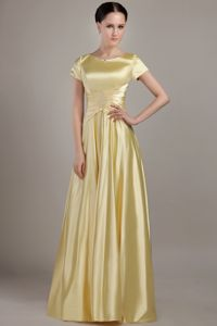 Exclusive Scoop Yellow Empire Floor-length Dresses For Bride Mother