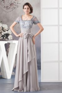 New Design Gray Lace and Chiffon Mother Of The Bride Outfits